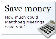 Find out how much you could save with Matchpeg Meetings